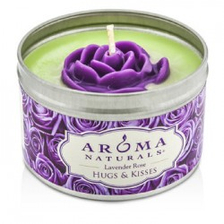 AROMA NATURALS-100% All Natural Soy Candle - Hugs & Kisses (Purple Rose)