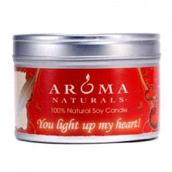 AROMA NATURALS 100% Natural Soy Candle - You Light Up My Heart!