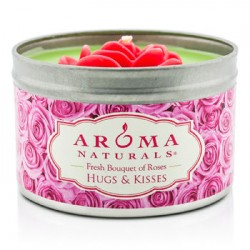 AROMA NATURALS 100% naturlig soyalys - Hugs & Kisses (rosa rose)
