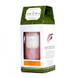 AROMA NATURALS Authentic Aromatherapy Candles - Clarity (appelsin og sedertre)