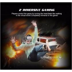 VR BOX andre Gen Hodemontert 3D-briller + VR Remote Control Gamepad 3D White DA